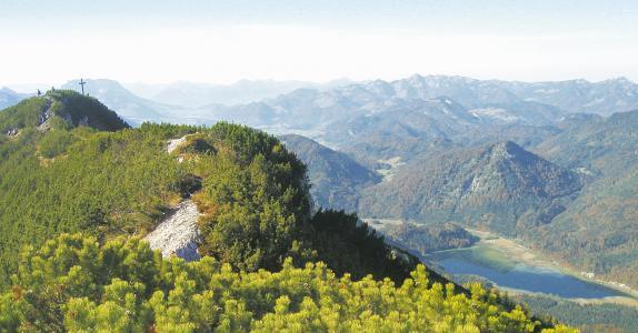 Dürrnbachhorn mit Blick zum Weitsee