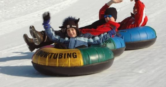 Snowtubing in Blindau